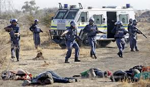 lonmin striking miners shot dead