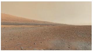 panoramic view of Mars surface