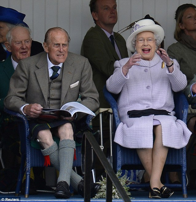 The Queen and Prince Philip at Braemar Games
