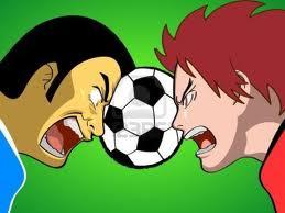 fighting footballers