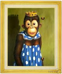 monkey in dress