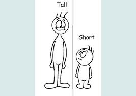 tall and short people