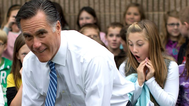 mitt romney and girl