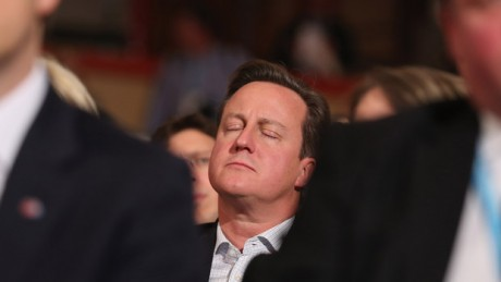 david cameron sleeping