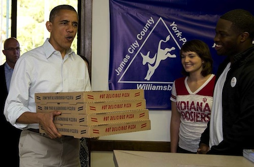 obama pizza delivery