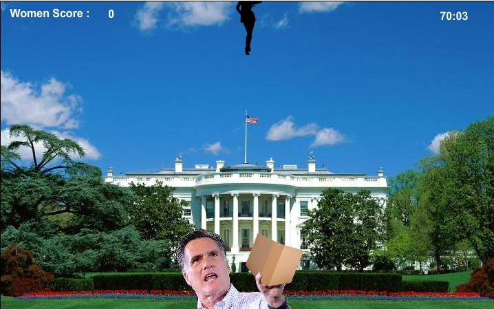 romney catch women with binder game