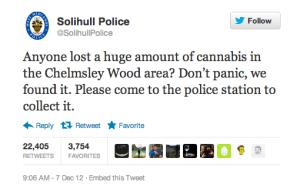 solihull police weed tweet