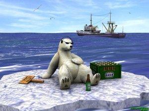 polar bear and beer