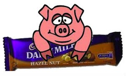 cadbury chocolate pig250