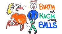 childbirth vs kick in balls200