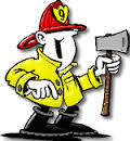 FIREFIGHTER WITH AX