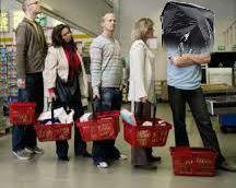 binbag in queue