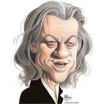 bob geldof caricature