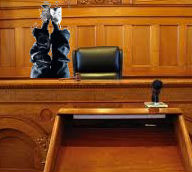 man standing on head in court