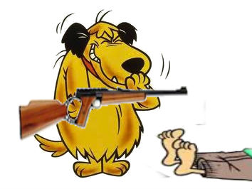 muttley with rifle