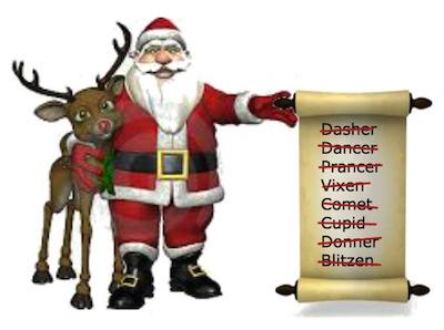 Santa Loses Reindeer