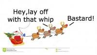 santa and whip