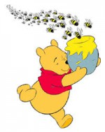 winnie the poo and bees