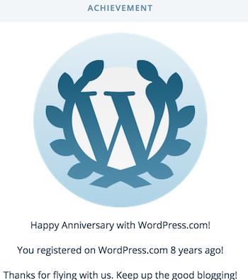 wordpress achievement