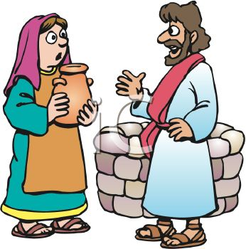 0511-1010-2117-0208_Biblical_Man_and_Woman_Speaking_by_a_Well_clipart_image