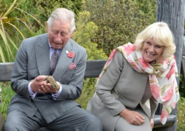 charles and camilla and hairy beast