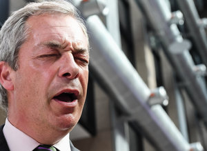 Leader of the UKIP, Nigel Farage (AP Photo/Geert Vanden Wijngaert)