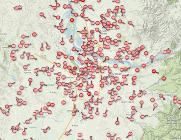 heat map portland 8-2-17