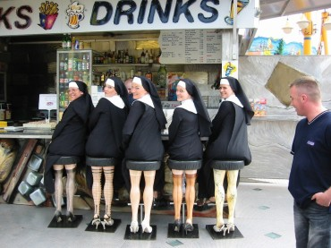 Image result for nuns on stools